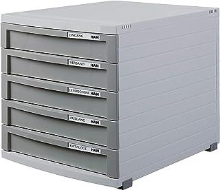 HAN Module à tiroirs CONTUR – système de classement moderne et modulaire, extensible, avec 5 tiroirs fermés pour documents...