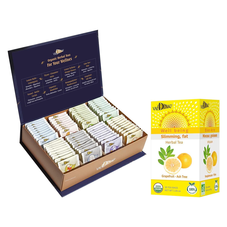 VALDENA BIO Organic Herbal Tea Ranking TOP18 Gift Omaha Mall Grapefruit Focus + As Box