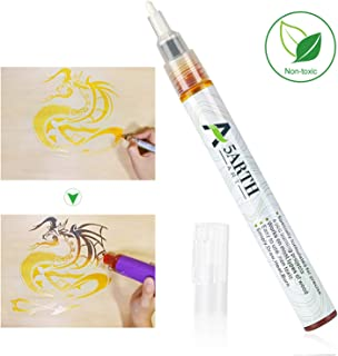 Wood Burning Marker Pen - 5ARTH Chemical Woodburuning Marker for DIY Wood Painting,  Replace Wood Burning Iron Kit,  Easy use and Safe,  Fine Tip Wood Burner Tools