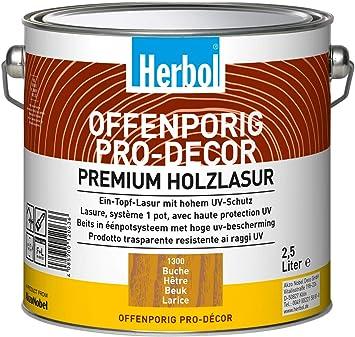 Herbol Offenporig Pro-Décor 0,75 L palisander - Tintes para maderas de exterior (Preparado, Madera, Marrón, Satinado brillante, 0,75 L, 12,5 m²/L)