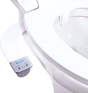 Brondell Bidet – Thinline Dual Nozzle SimpleSpa SS-250 Fresh Water Spray Non-Electric Bidet Toilet Attachment in White wit...