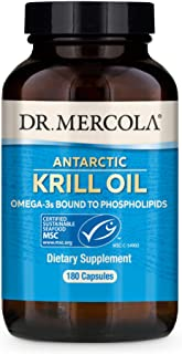 Dr. Mercola, Antarctic Krill Oil, Support a Healthy Heart, Overall Joint Comfort and Immune Function, MSC Certified, Non G...