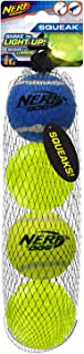 2.5in Squeak Tennis Ball and 2.5in TPR LightningLED Ball 4-PACK - Blue and Green, Model: 4270