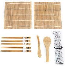 Sushi Maker Kit Bambus 9Pcs 2 Rollmatten 5 Stäbchen 1 Reis