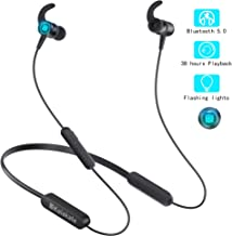 Wireless Headphones, Kalakate Bluetooth 5.0 Sport Earbuds, IPX6 Waterproof in-Ear Earphones with 38 Hours Playtime, HiFi Stereo Running Headphones with Magnetic Connection & Built-in Mic