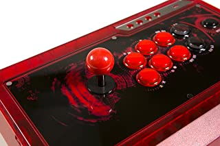 Qanba Q4 Q4RAF Joystick for PS3, Xbox 360 and PC (Fightstick), Ice Red