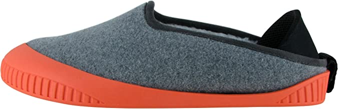 Dualyz Unisex Kush Wool Slipper, Light Grey/Salmon, Womens US 8