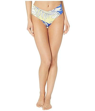 Maaji Vacation Lodge Reversible High-Waist Cheeky Coverage Bikini Bottoms (Pacific Blue Floral) Women