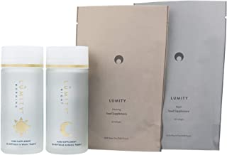 LUMITY Award-Winning Healthy Beauty Supplements 2-Step Morning & Night Nutritional Supplements for Hair, Skin, Nails, Immune System & Cognitive Health- Omega 3s, Turmeric, Flaxseed Oil