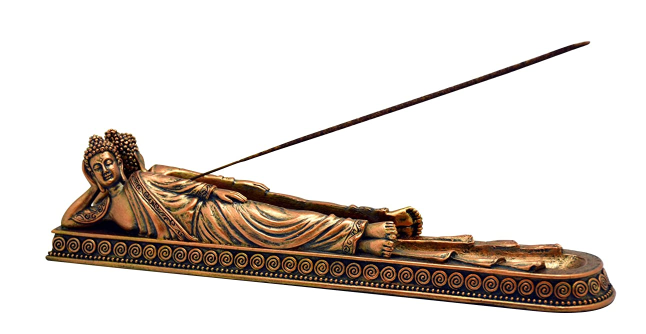 粘り強い幻影市民権Fantasy Buddha Lying Down BurnerポリレジンIncense Burner?–?11?