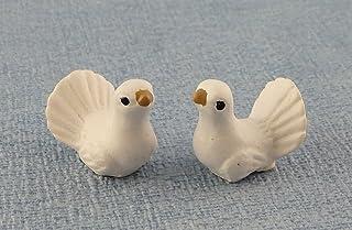 1:12 Scale Multi Coloured Ceramic Bird Tumdee Dolls House Miniature Garden K