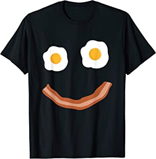 eggs bacon smiley face