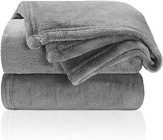 TILLYOU Micro Fleece Plush Baby Blanket Large Lightweight Crib Blanket for Toddler Bed, Super Soft Warm Kids Blanket for D...