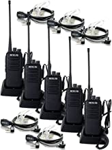 Retevis RT1 Walkie Talkies Long Range UHF 16CH VOX Encryption 3000mAh High-Power 2 Way Radios with 2 Pin PTT Covert Acoustic Earpiece (5 Pack)