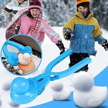 Fun Winter Outdoor Activities Plastic Sand Ball Clip Snow Brick Maker Mold Gift for Kids Adult Snow Ball Fights Beach Play Duck Shape Snowball Clip Tool Winter Mold Snowball Maker Toy Blue