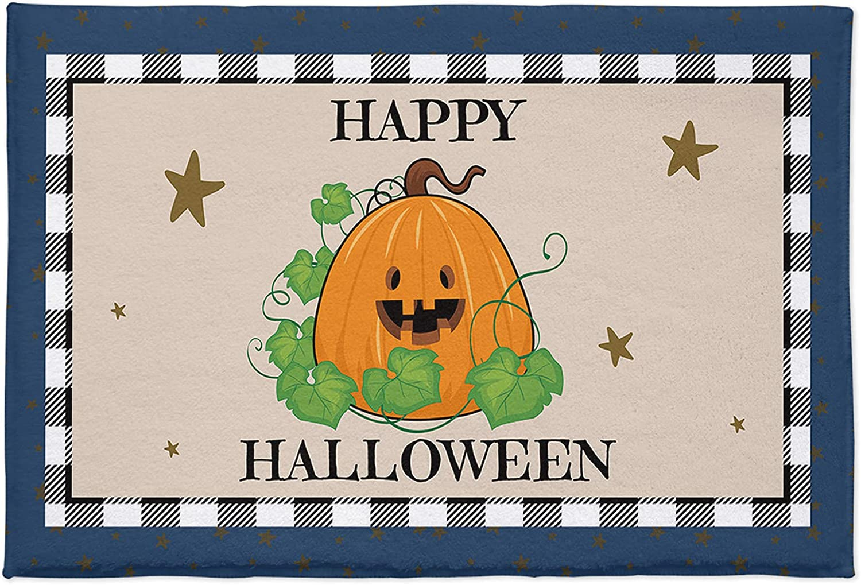 Max 64% OFF Yun Max 49% OFF Nist Fluffy Shag Plush Area Halloween Rug Cute Pumpkin Star
