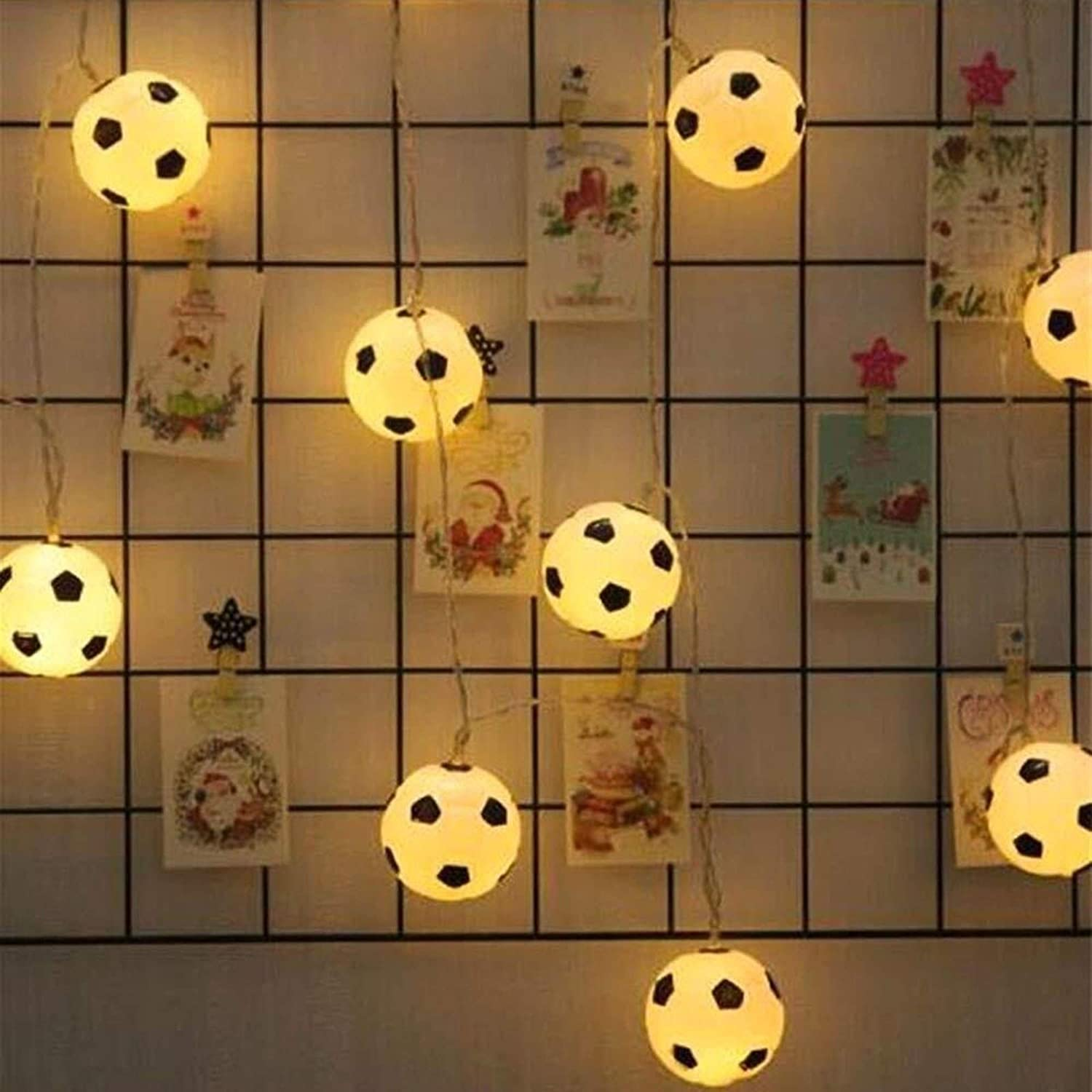 Complete Free Shipping Fairy Lights Rare Led String Football Battery-powered L
