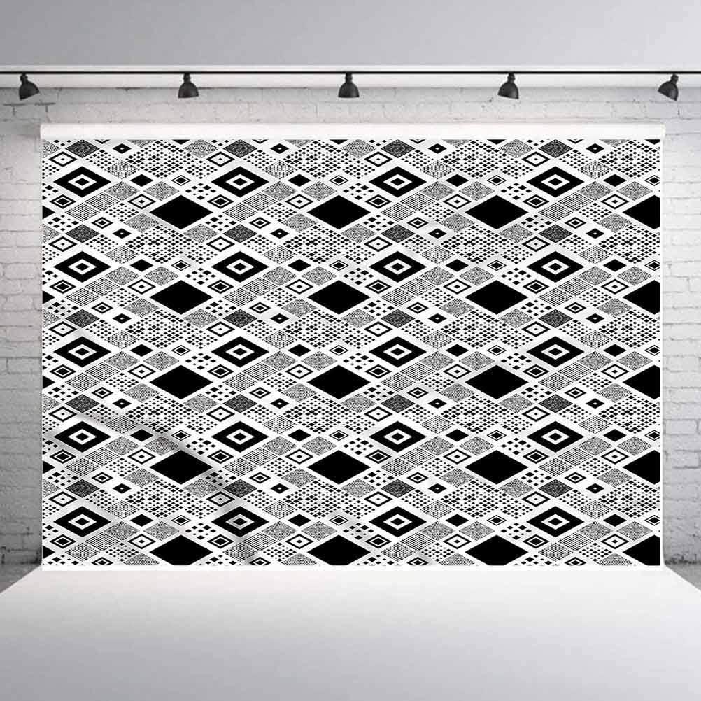 7x7FT Vinyl Photo Backdrops,Leopard Print,Black and White Photoshoot Props Photo Background Studio Prop