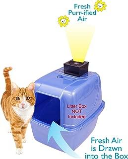 Purr-ifier Cat Litter Box Deodorizer - Odor Eliminator Filtration System - Removes Kitty Litter Smell