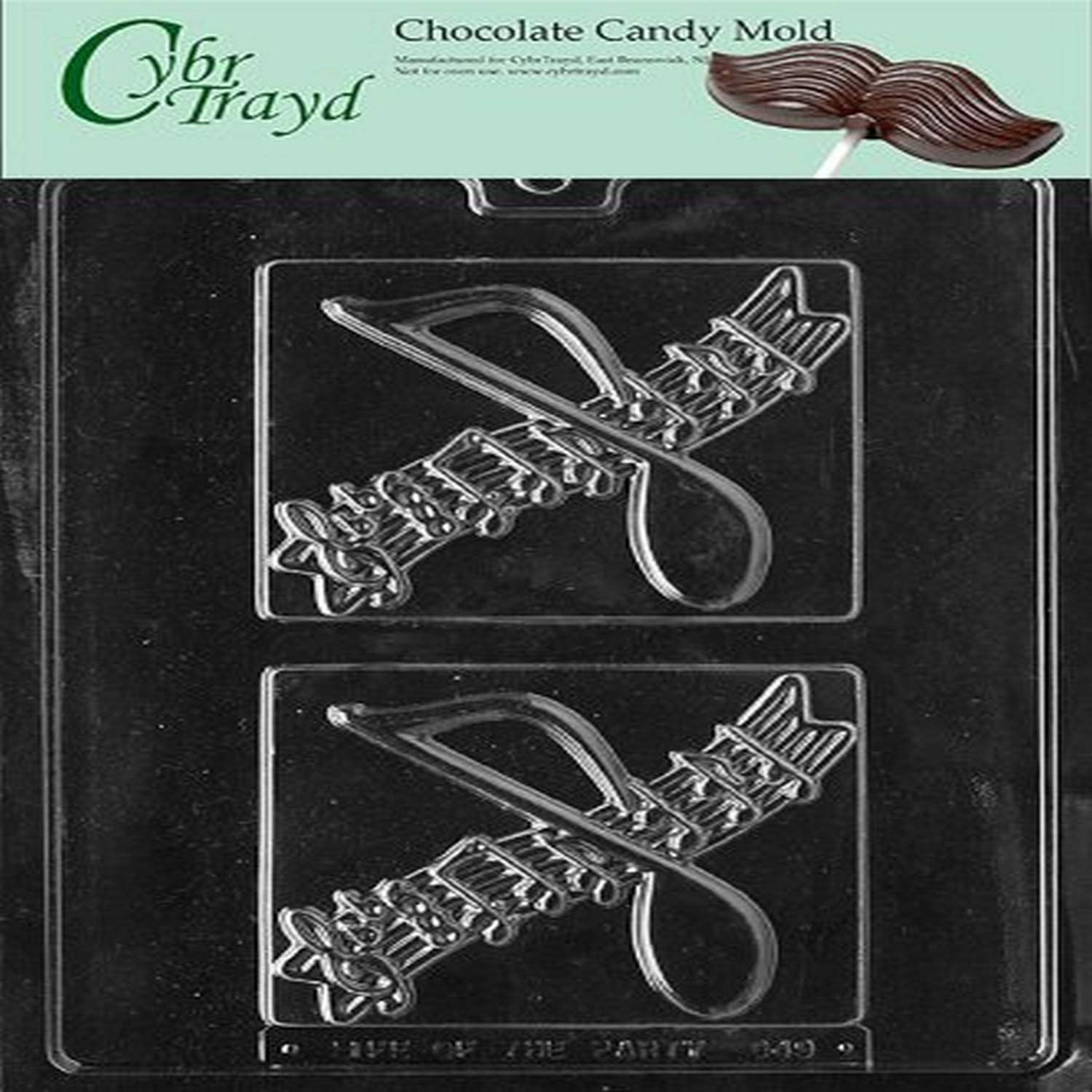 MUSIC PLACQUE FITS G30 Max 67% OFF chocolate candy mold Genuine Free Shipping BOX