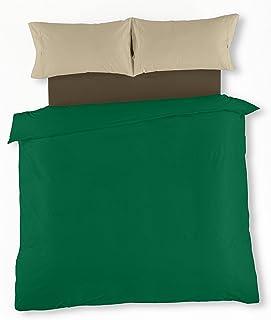 3ff73abe26a ESTELA - Juego de funda nórdica serie Multicolor (4 piezas) - Verde billar-