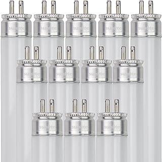 Sunlite 05061-SU F8T5/DL 8ワット T5リニア蛍光灯電球 ミニバイピンベース付き 6500K 10個パック