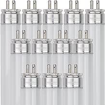 Sunlite F28T5/835/12PK T5 High Performance Mini Bi-Pin (G5) Base Straight Tube Light Bulb (12 Pack), 28W/3500K, Neutral White