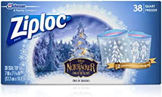 ZIPLOC Brand Freezer Bags Quart Featuring Designs from Disney'S The Nutcracker and The Four Realms