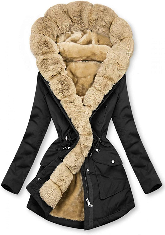 YUIJN Women's Winter Long Sleeve Button Coat Casual Jacket