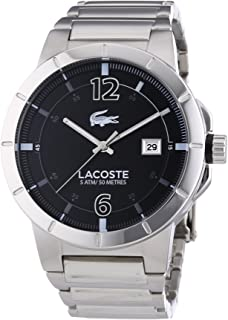 Lacoste Darwin For Men Black Dial Stainless Steel Band Watch - 2010725