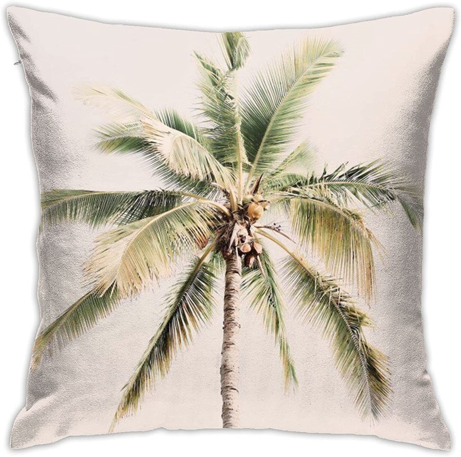 Tropical Palm Tree Throw Pillow Milwaukee Mall Case Ho Cushion Square for Cover 2021 new
