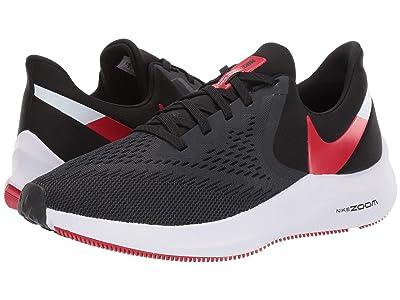 Nike Air Zoom Winflo 6 (Black/University Red/Noir/University ROgue) Men