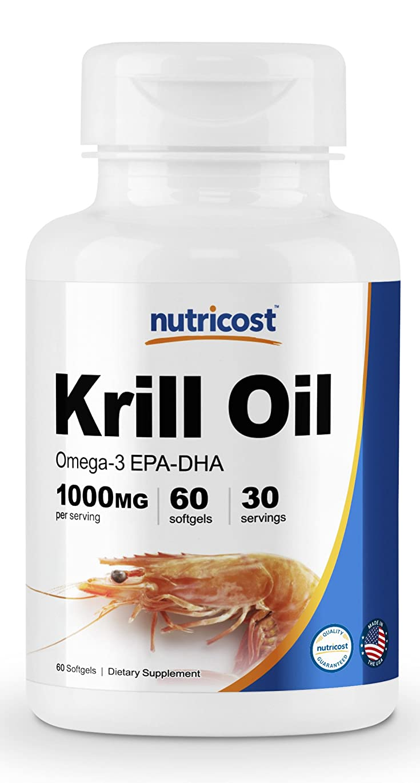 メッセージメトロポリタンループNutricost オキアミ油 (1000mg)、 60ソフトカプセル、オメガ3脂肪酸 (エイコサペンタエン酸 - EPA+ドコサヘキサエン酸 - DHA)