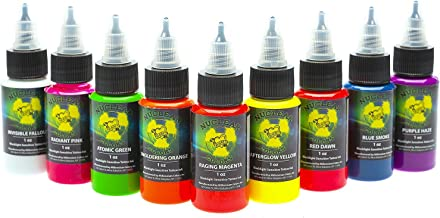 Nuclear UV Invisible Tattoo Ink Set - UV Fallout Millenium Moms - 1oz 9 Bottles