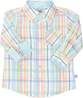 RuggedButts Baby//Toddler Boys White Formal Button Down