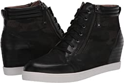 Black/Camo Leather/Net Fabric
