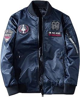 APTRO(アプトロ)ミリタリージャケット メンズ 両面着 ジャンパー 秋春冬 ブルゾン カジュアル 刺繍ワッペン フライトジャケット