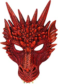 Coxeer Party Mask 3D Dragon Cosplay Mask Party Costume Mask for Mardi Gras