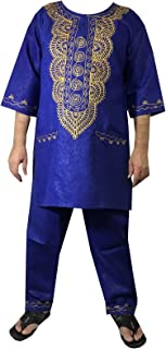 african clothing attire mens ethnic pants suits traditional brocade wedding festival hippie dashiki style