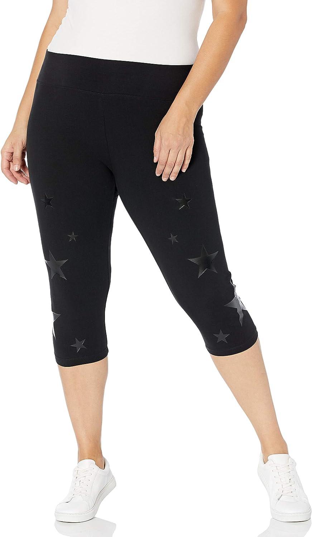 Marc New York Performance Women's Plus Size Crop Legging with Star Print