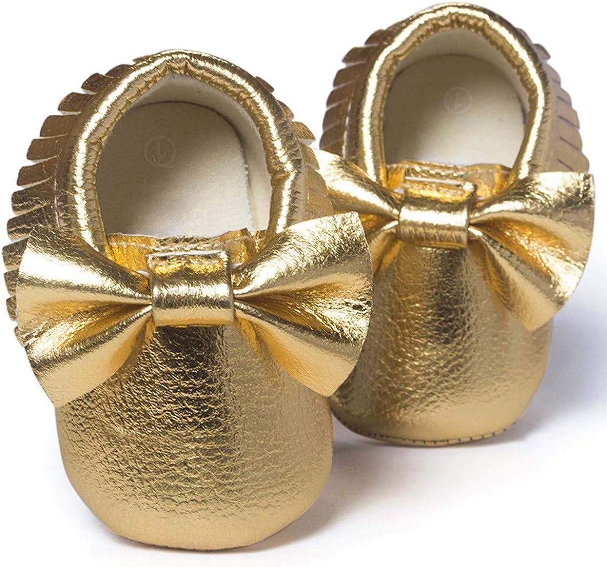 BENHERO Newborn Baby Boys Girls Soft Soled Tassel Bowknots Crib Infant Toddler Prewalker Moccasins Shoes
