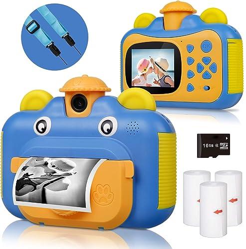 BITIWEND Appareil Photo pour Enfants, Appareil Photo à Impression numérique pour Children, Ecran à 2.4 Pouces Caméra ...