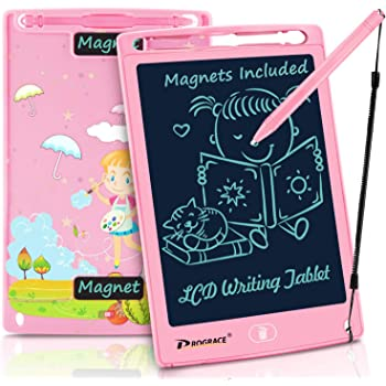 Teerwere LCD Tablet 10 Inch LCD Tablet Electronic Blackboard Children Intelligent Graffiti Painting Board Portable LCD Writing Tablet LCD Writing Tablet Board Color : Pink, Size : 10 inches