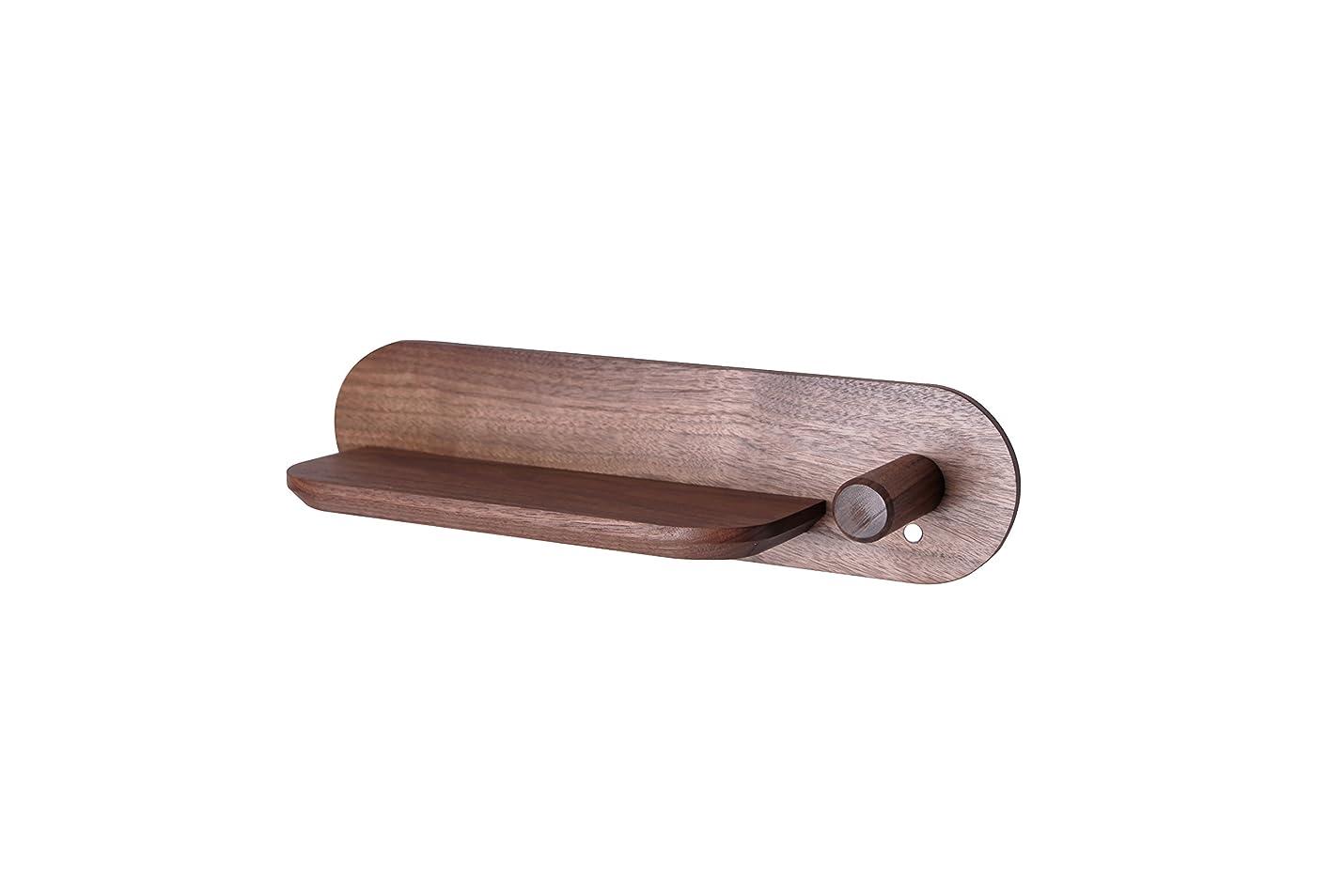 先比喩見えない天然木 ドライヤースタンド ダイソン専用 壁掛けスタンド ダイソンドライヤー コーティング ダイソン ドライヤー 磁力 木材 収納 壁掛け ドライヤー置き (茶, 大)