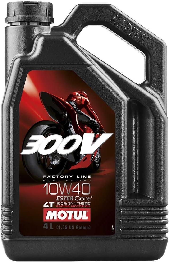 Motul 104121 300v 4t Factory Line Road Racing 10 W 40 4 L Auto
