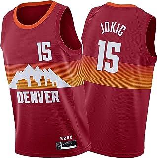 Dẹṇver Ṇuggets Ṇikọla Jọkic 15# デンバーナゲッツニコラヨキッチ メンズバスケットボールジャージー、2020年シティエディションスウィングマンジャージー、快適なベストを着用