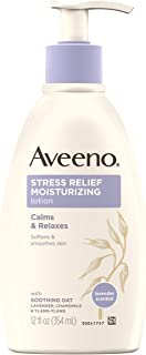 Aveeno Stress Relief Moisturizing Body Lotion with Lavender, Natural Oatmeal and Chamomile & Ylang-Ylang Essential Oils to...