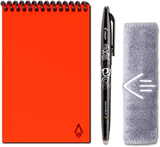 Rocketbook Everlast Smart Reusable Notebook - Dotted Grid Eco-Friendly Notebook with 1 Pilot Frixion Pen & 1 Microfiber Cloth Included - Atomic Red Cover, Mini Size (3.5