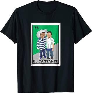 El cantante mexican loteria card bingo funny t shirt