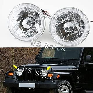Universal Headlights Conversion white chrome Head Lamps 5